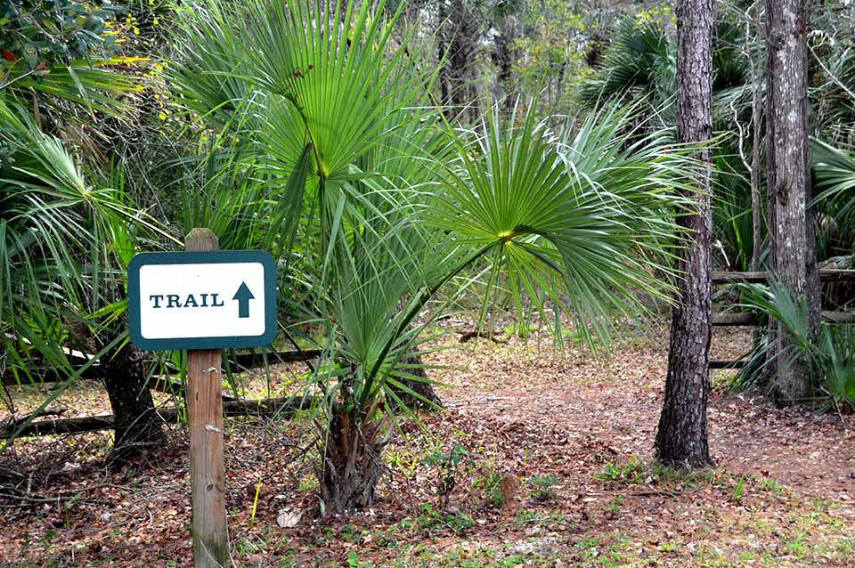 Silver Springs Connector Trail Entrance
