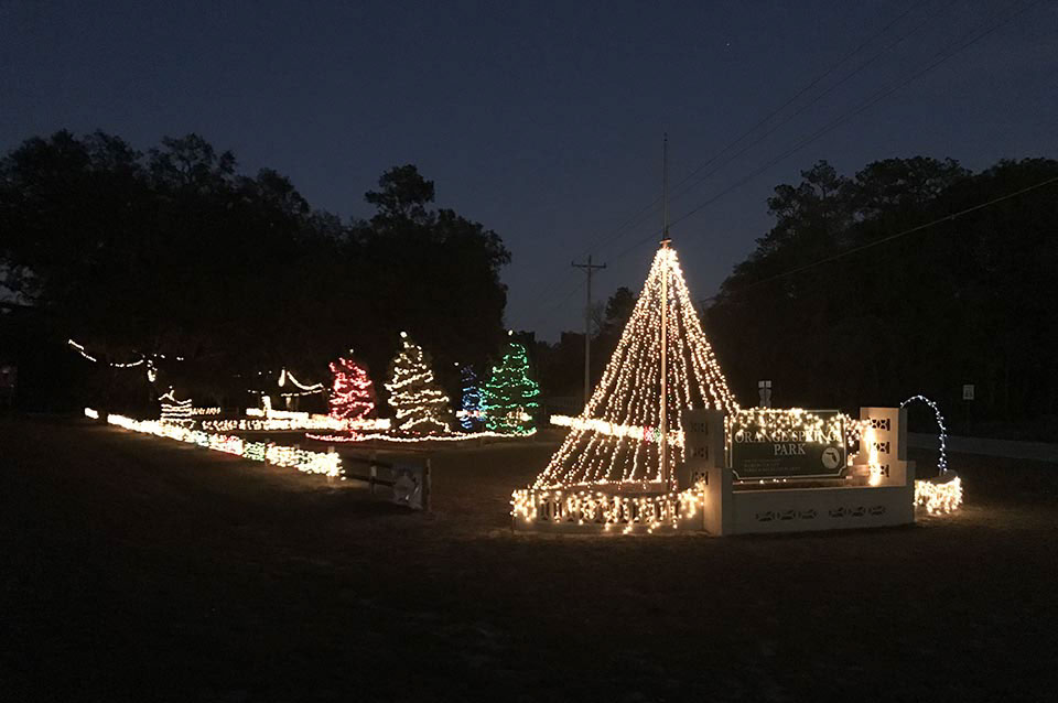 Christmas Lights at Orange Springs Park