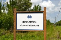 Sign to Rice Creek Conservation area along Florida Highway 100