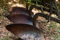 Abandoned farm equipment at Little Tallapoosa Park