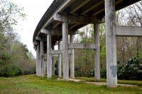 Bridge overhead at Fort Brooks Road