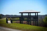 Observation Deck at Ocklawaha Prairie Restoration Area just beyond the canal and along Old Celery Farm Road