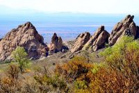 Las Cruces from Dripping Springs Trail