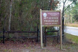 Entrance at 49th Avenue Trailhead