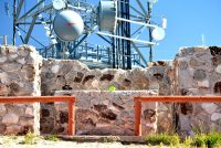 KRWG transmitter behind shrine atop Tortugas, Las Cruces, New Mexico