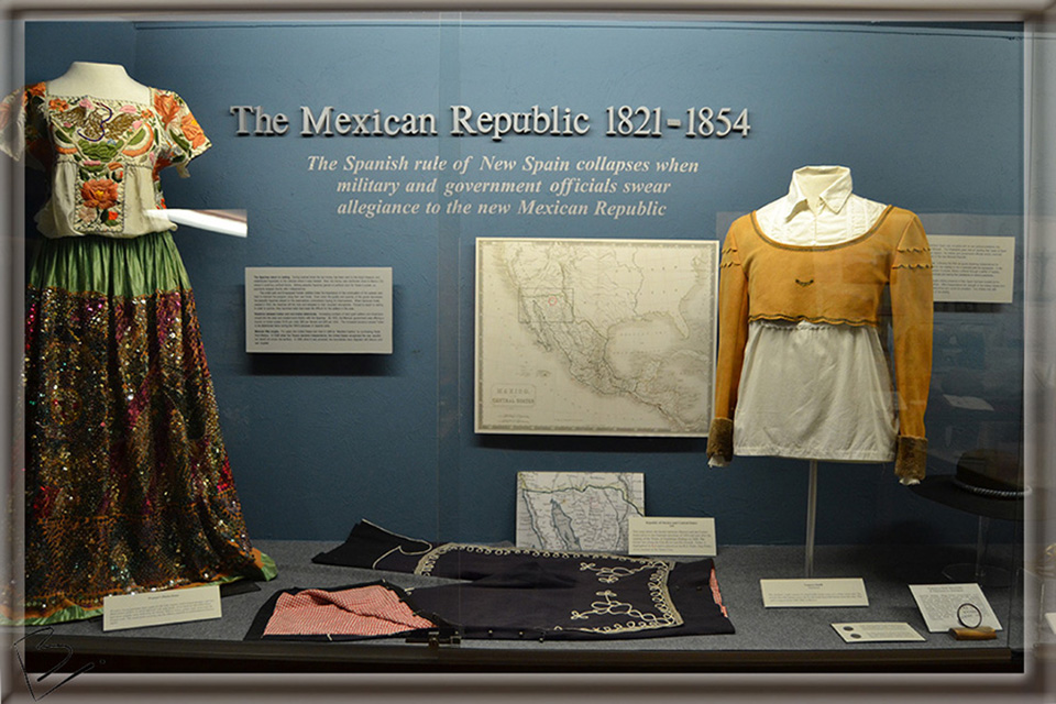 Garb of 1800s Mexican Republic preserved at Tubac Presidio, Arizona