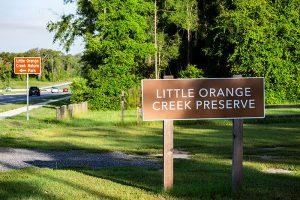 Little Orange Creek Reserve Entrance