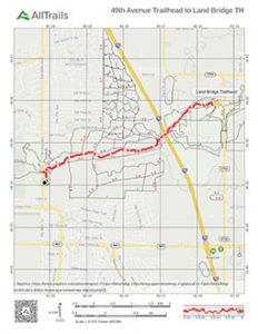 Trail map of 49th Ave Trailhead to Land Bridge Trailhead in Marion Oaks, Florida