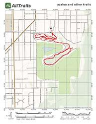 PDF Trail Map for Ravine Gardens State Park in Palatka, Florida