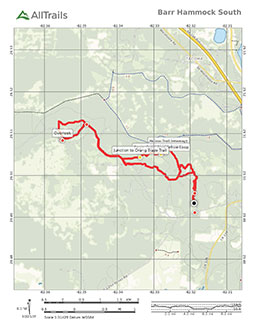 Map of Barr Hammock Preserve South Trails