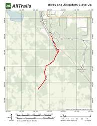 Trail Map for Paynes Prairie Preserve, La Chua Trail