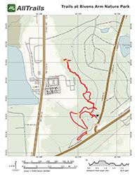 Trail Map at Bivens Arm