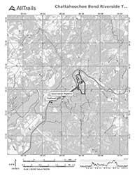 Hiking Trail Map, Chattahoochee