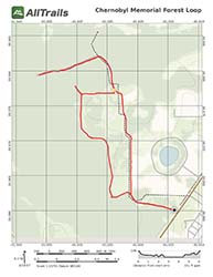 Map of Chernobyl Memorial Forest Loop in Florida