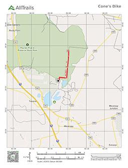 PDF Trail Map of Cone's Dike Trail at Payne's Prairie Preserve