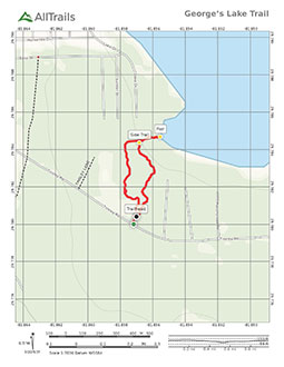 Trail map of George's Lake Hiking Trail