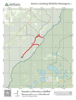Link to pdf trail map of gores landing unit wma