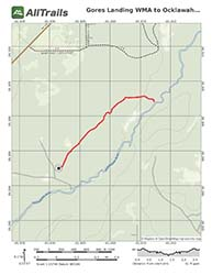 Trail Hiking Map for Gore's Landing WMA