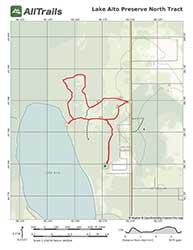 Hiking Trail Map Lake Alto Preserve