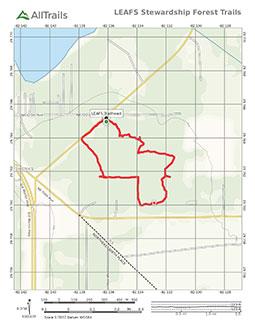 PDF Trail Map of LEAFS trails near Waldo, Florida