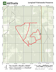 Hiking Trail Map for Longleaf Flatwoods Reserve