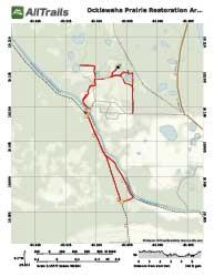 Ocklawaha Prairie Restoration Area Trail Map