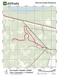 Hiking Trail Map for Prairie Creek Preserve