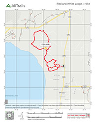 Hiking Trail Map for Newnan's Lake Conservation Area