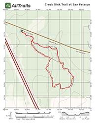 Trail map of Creek Sink Trail at San Felasco