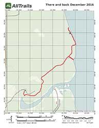 Map of Saint George Trail at Silver Glen Springs, Salt Springs, Florida