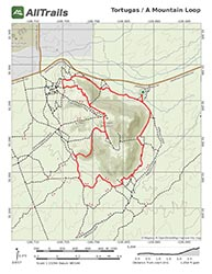 PDF Trail Map of Monte Vista Hiking Trail on Tortugas Mountain, Las Cruces, New Mexico
