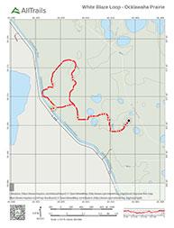 Trail map for Ocklawaha Prairie Preserve