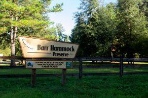 Entrance sign at Barr Hammock Preserve South Trails