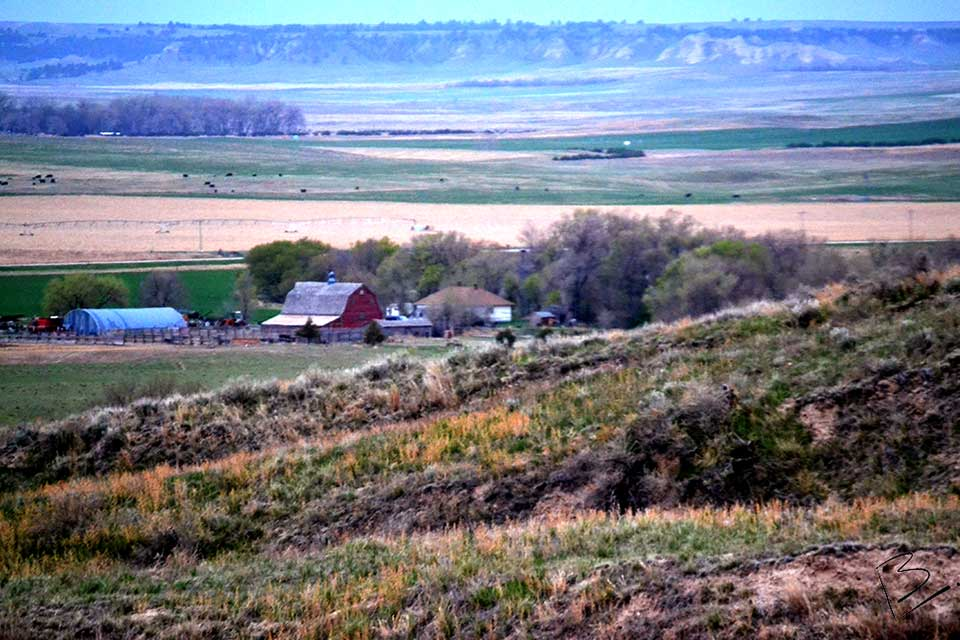 View of Farm from Seybolt Park, Nebraska