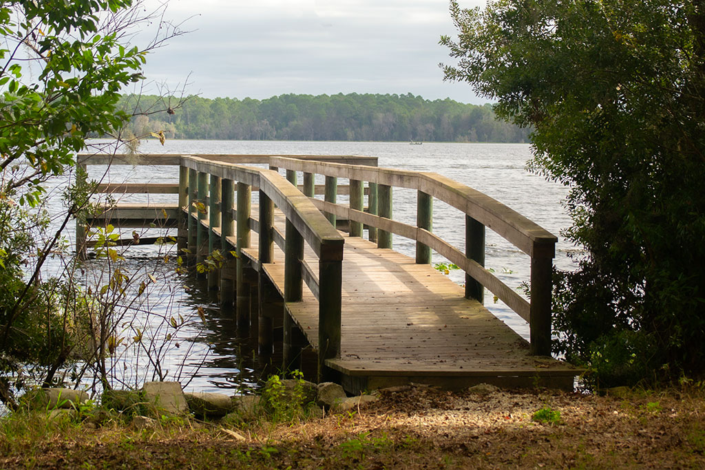 Pier jutting into George's Lake in Putnam County