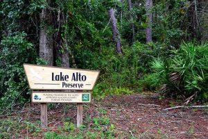 Lake Alto Preserve Treefrog Trail Trailhead