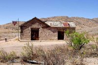 Abandoned Service Station in Lake Valley Ghost Town