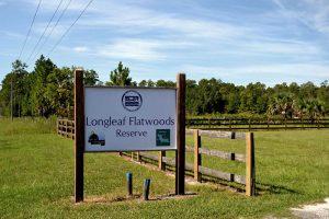 Entrance to Longleaf Flatwoods Reserve