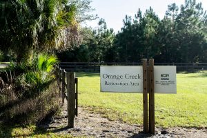 Entrance at Orange Creek Conservation Area North