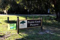 Prairie Creek Preserve trails entrance using Gainesville-Hawthorne Biking Trail Parking