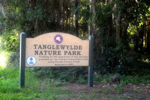 Entrance to Tanglewylde Nature Park, Palatka, Florida - Florida Communities Trust