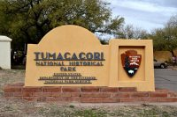 Entrance to Tumacacori National Historical Park