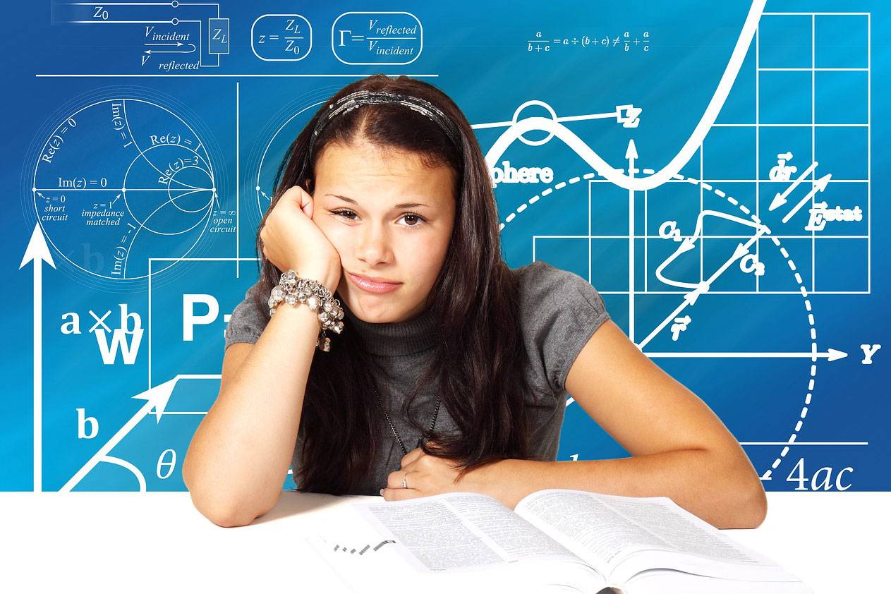 Bored Student inundated with information