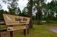 Entrance to Lake Alto North Preserve at 14500 NE County Road 1471, Waldo, Florida