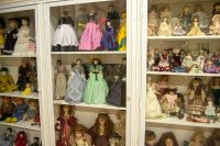 Portion of an extensive antique doll collection in Tallapoosa, GA