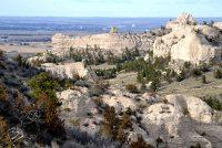 A view of Gering, Nebraska from Wildcat Hills