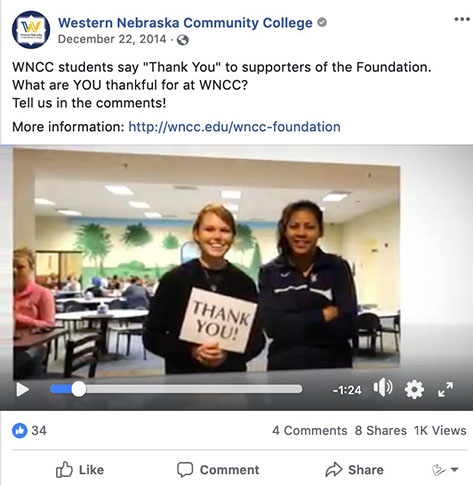Western Nebraska Community College Foundation post